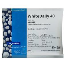 Мезо-термофильная закваска Hansen WhiteDaily 40 (50U)